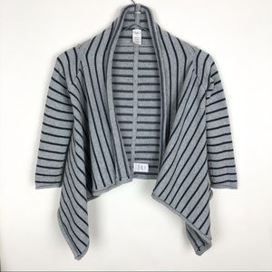 Tea Collection Open Cardigan Striped Knit Sweater